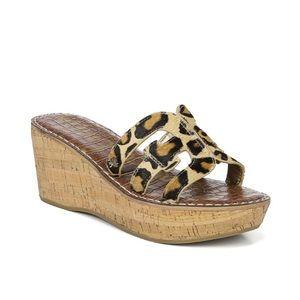 Sam Edelman Regis Animal Print Sandals 8.5 NWT